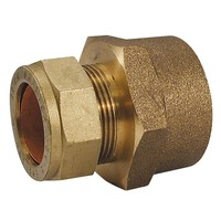 "15mm x 1/2"" BSP Straight Coupling (Male or Female)"
