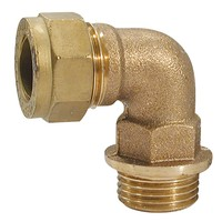 "15mm x 1/2"" BSP Compression Elbow Coupling (Male or Female)"